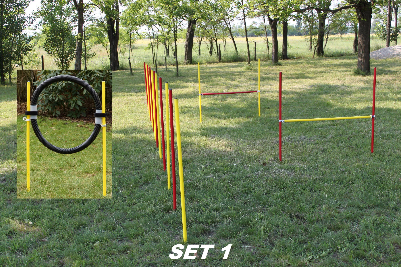 AGILITY-COMBI-SET ! 2 X HÜRDEN / 1 X SLALOM / 1 x RING